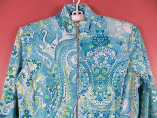 Multi Zip Front Blue St S Woman Blend John Cotton Floral Cj0547 Jacket UxfXzqwn