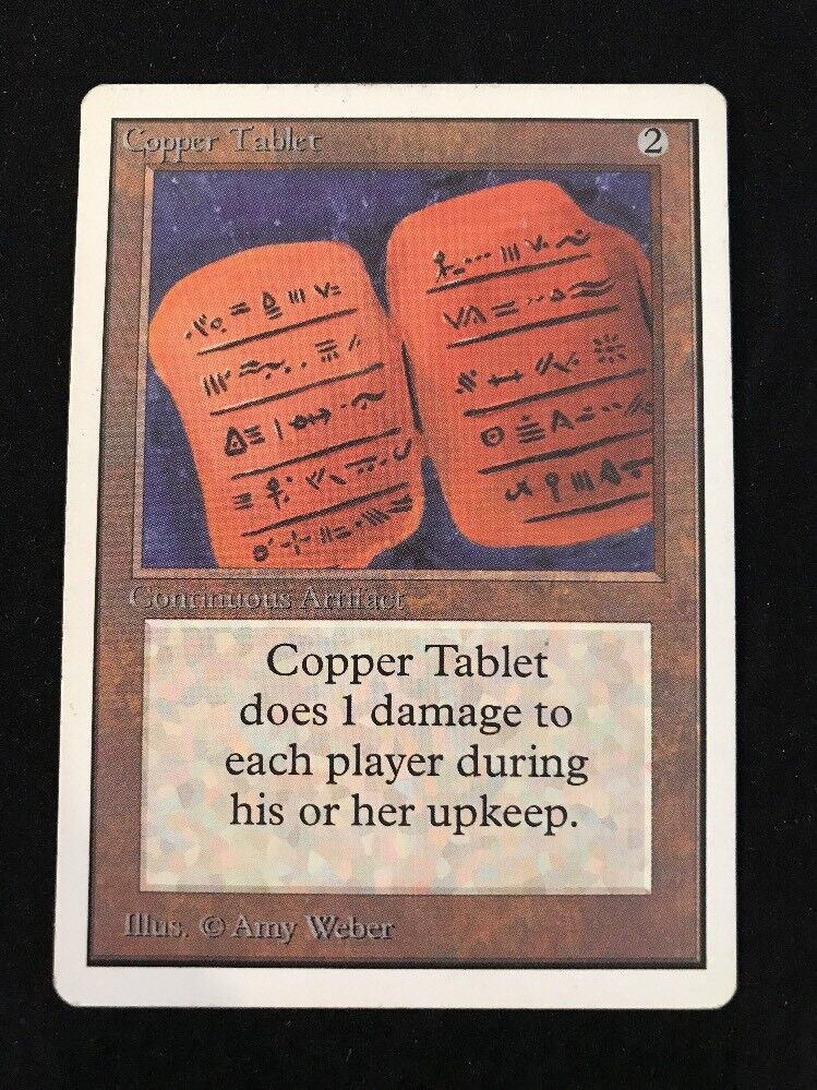 COPPER TABLET MTG Magic The Gathering 1993 Unlimited ENGLISH VINTAGE OOP++++