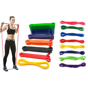 Heavy-Duty-Exercise-Resistance-Loop-Set-Bands-Set-Fitness-Home-Yoga-Gym-Pull-JR