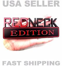 REDNECK EDITION BOAT TRUCK CAR EMBLEM LOGO DECAL SIGN ORNAMENT BADGE BLACK RED