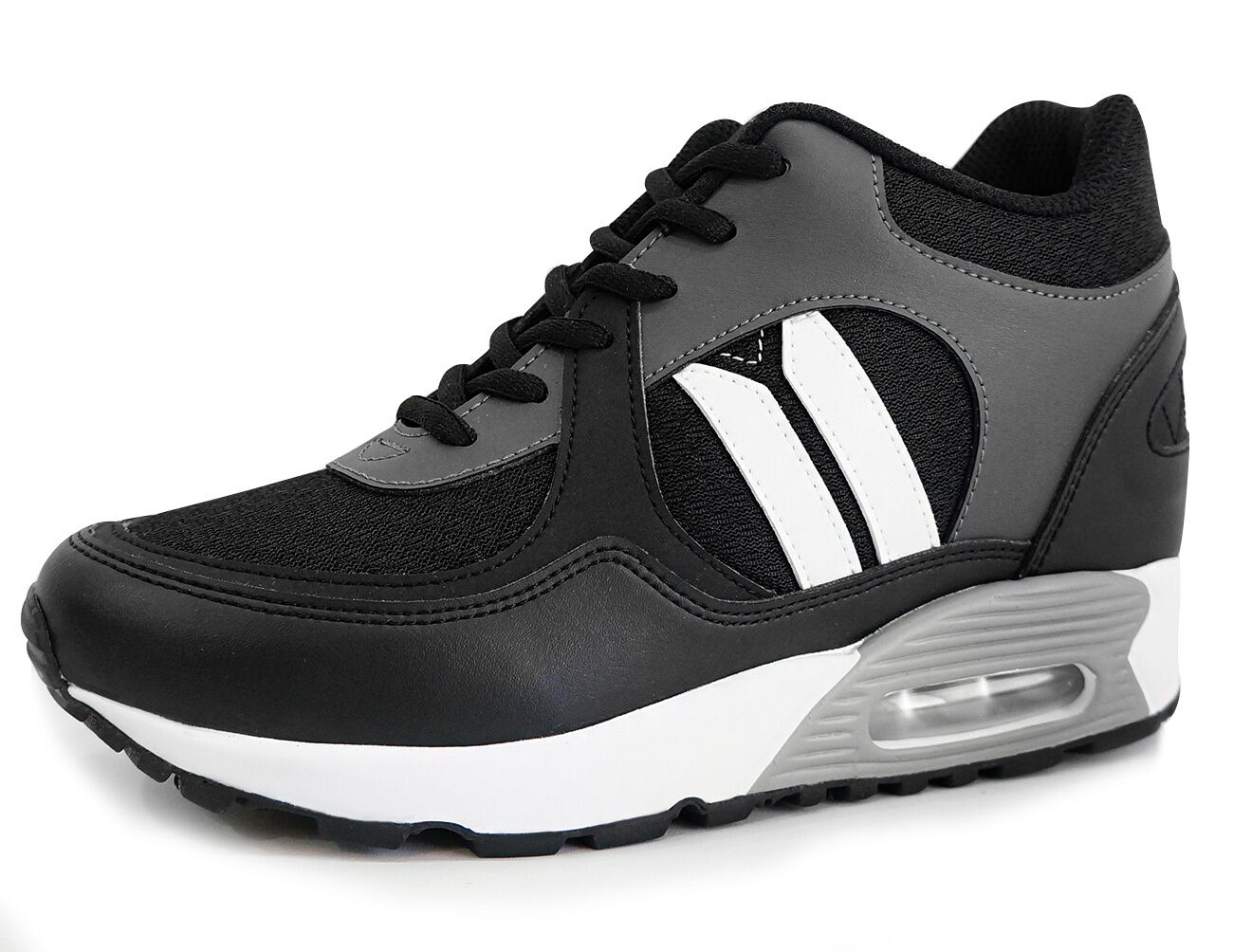MNX15 Men's Elevator shoes LOTUS BLACK Height Increase 10cm by FedEx Fast Ship