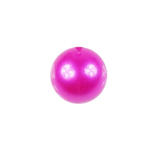 1,6mm perla Pink piercing bala oreja labio Helix ombligo piercing