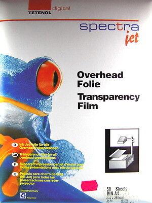 Präsentationsbedarf 0233 Folien Konstruktiv Tetenal Digital Spectra Jet Overhead Folie Din A4 50 Blätter Transparency