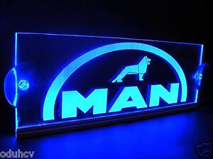 24v led cabin interior light plate for man truck laser engraved neon table sign ebay for Interior neon lights for trucks