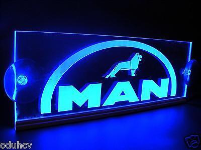 Blau Led Innen Cabin Licht Super Platte Laser Neon Beleuchteter Schild 12v Lkw