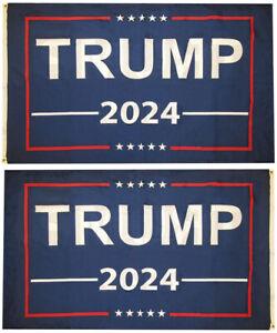 3x5 Trump 2024 Blue Premium Quality 100D Woven Poly Nylon Flag 3/'x5/' Banner Blue