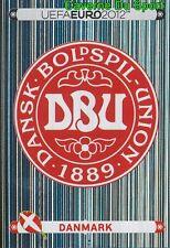 195 LOGO BADGE - Danmark DENMARK STICKER EURO 2012 PANINI