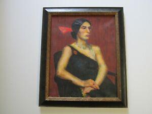 Dorothy-Deyrup-1908-1961-Art-Deco-Fauve-PORTRAIT-FEMALE-WOMAN-MODEL-ESTATE