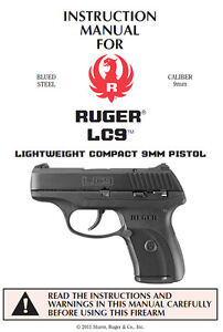 ruger lc9 9mm pistol owners instruction and maintenance manual ebay rh ebay com ruger lcp 2 owners manual ruger lcp 2 owners manual