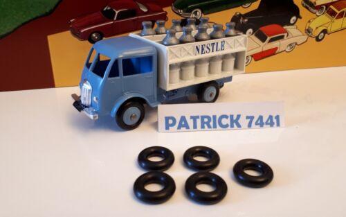 Lot de 5 Pneus 15//8 noir Dinky toys pour Camion Ford Laitier Nestle