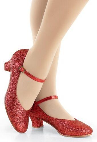 UK 3 BALERA Red Glitter Character Shoes B112 Boxed