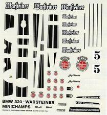 BMW  320 N°5 WARSTEINER RACE 1977 MINICHAMPS DECALS 1/43