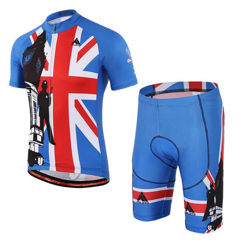 Miloto UK Team Team Team Fahrradbekleidung Set Herren Radsport Trikot Shorts   Trägerhose | Eine Große Vielfalt An Modelle 2019 Neue  b16844