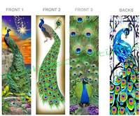 3 Set-peacock Bookmark Fun Peafowl Stained Glass Look Bird Feather Art Book Card