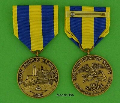 West Indies Campaign Medal Marine Corps 1898 Spanish American War Cuba USM311
