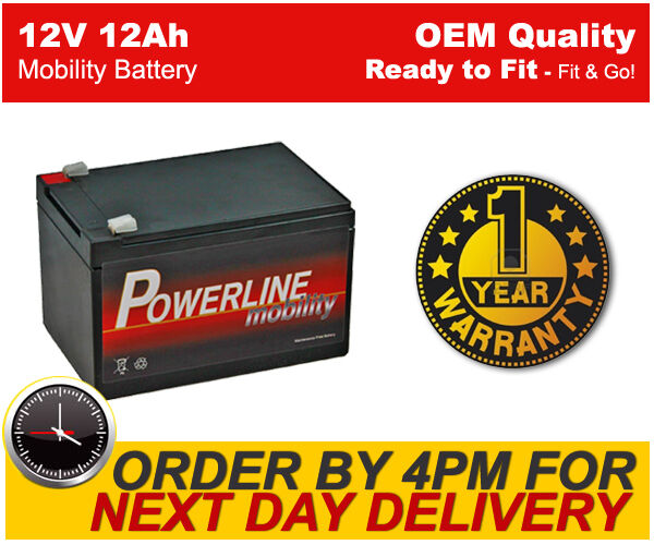 single powerline strident 12v 12ah 20hr rechargeable battery next