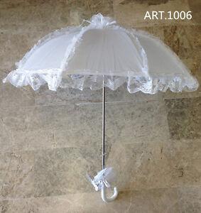 ed9d75f88ff7 Caricamento dell immagine in corso Ombrello-da-sposa-MATRIMONIO-BIANCO-con- pizzo-wedding-