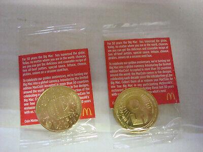NIP McDonald/'s 50 Years Of Big Macs Commemorative Mac Coin Ltd Ed 2008-2018