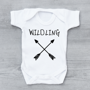 Wildling, Funny Game of Thrones, Baby Grow Bodysuit Vest Unisex Gift