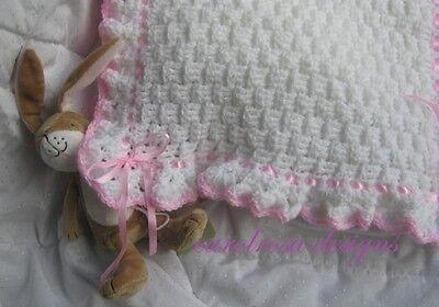 Crochet Pattern Baby Cot//Pram Cover//Blanket P0086