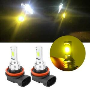 2Pcs-H8-H11-80W-8000K-Car-LED-Headlamp-Fog-Lights-w-Decoder-Yellow-Universal