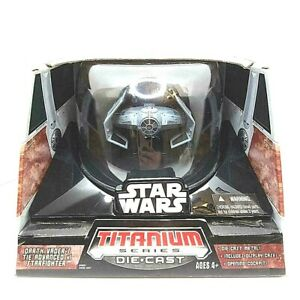 Darth-Vader-039-s-Tie-Advanced-H1-Starfighter-STAR-WARS-Titanium-Series-Die-Cast-NEW