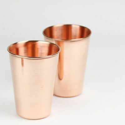 1x Pure Copper Drinking Serving Tumbler Glass Mugs 100/% Pure Copper From India