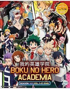 Boku-No-Hero-Academia-Season-1-3-Eps-1-63-end-with-English-Dub-Ship-From-USA