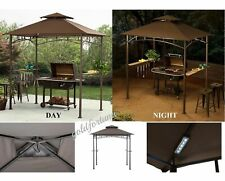 Grill Gazebo With Lights Day Night Barbecue Outdoor Patio Portable Bbq Shelter