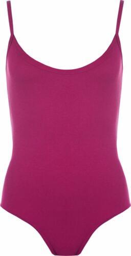 Womens Ladies Strap Strappy Sleeveless Camisole Cami Vest Bodysuit Leotard Top