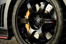 x6 Premium Nissan Nismo Logo Car Alloy Wheel Stickers