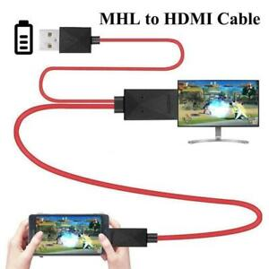 HD Micro USB To HDMI Cable Connect To TV HDTV 1080P Adapter Cable Cord
