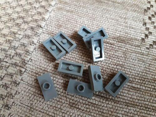 Lego Plate 1 x 2 with centre stud Part No 3794 Dark Bluish Grey x 10