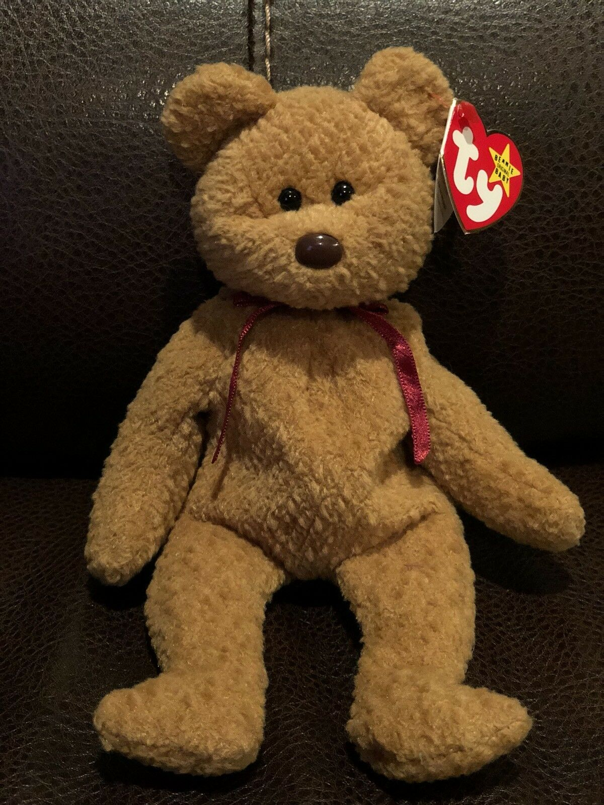 5d87e7b7c06 TY BEANIE BABY CURLY BEAR WITH ERRORS RARE Style 4052 TAG RETIRED ...