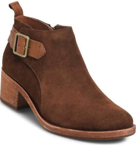4263d8224274 NIB Kork-Ease Mesa Buckle Brown Suede Leather Ankle Boot Bootie US ...