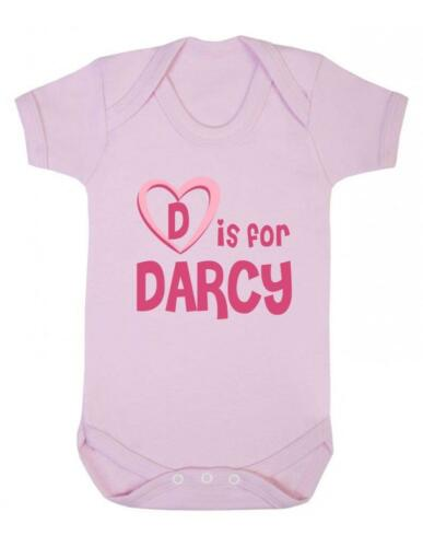 Playsuit Darcy Baby Bodysuit Baby Vest D Is For Darcy