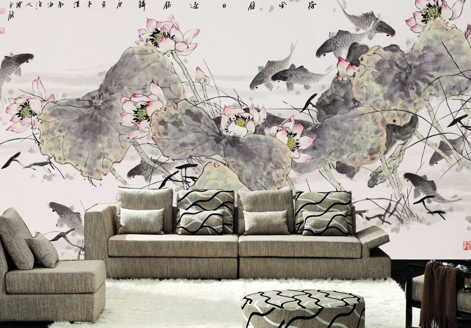 3D Leaves scatteROT 5 WallPaper Murals Wall Print Decal Wall Deco AJ WALLPAPER