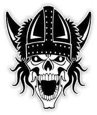 Cranio skull schädel crâne viking vichinghi череп etichetta sticker 9cm x 11cm