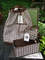 Pottery Barn Teen 3pc Dorm Set Brown Laundry Bag Bath Make Up Storage