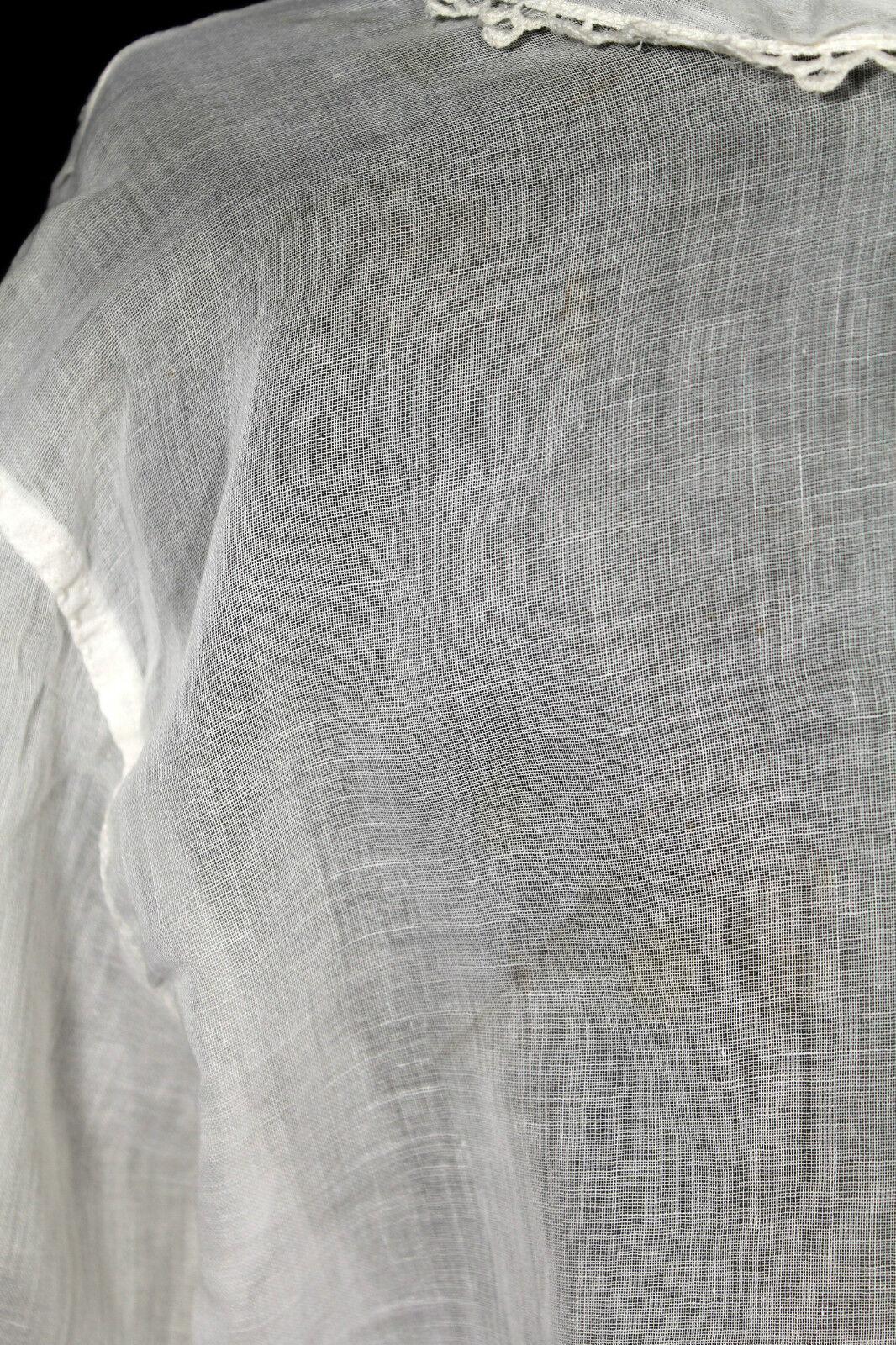PLUS SIZE  46 ANTIQUE VINTAGE EDWARDIAN ERA WHITE… - image 5