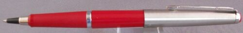 Parker Rollerball Pen-new refill--Systemark-Dark red with chrome cap