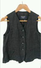 £150 MaxMara waistcoat gilet size 8 grey linen  --BRAND NEW-- stunning designer