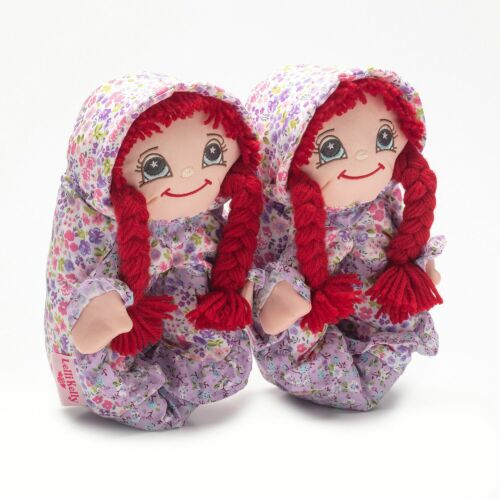 Lelli Kelly Doll Slippers Red Hair LK8000 Rossa Come with Star Clips