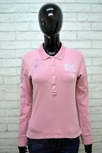 Maglia-Polo-Donna-LA-MARTINA-Taglia-M-Camicia-Manica-Lunga-Shirt-Woman