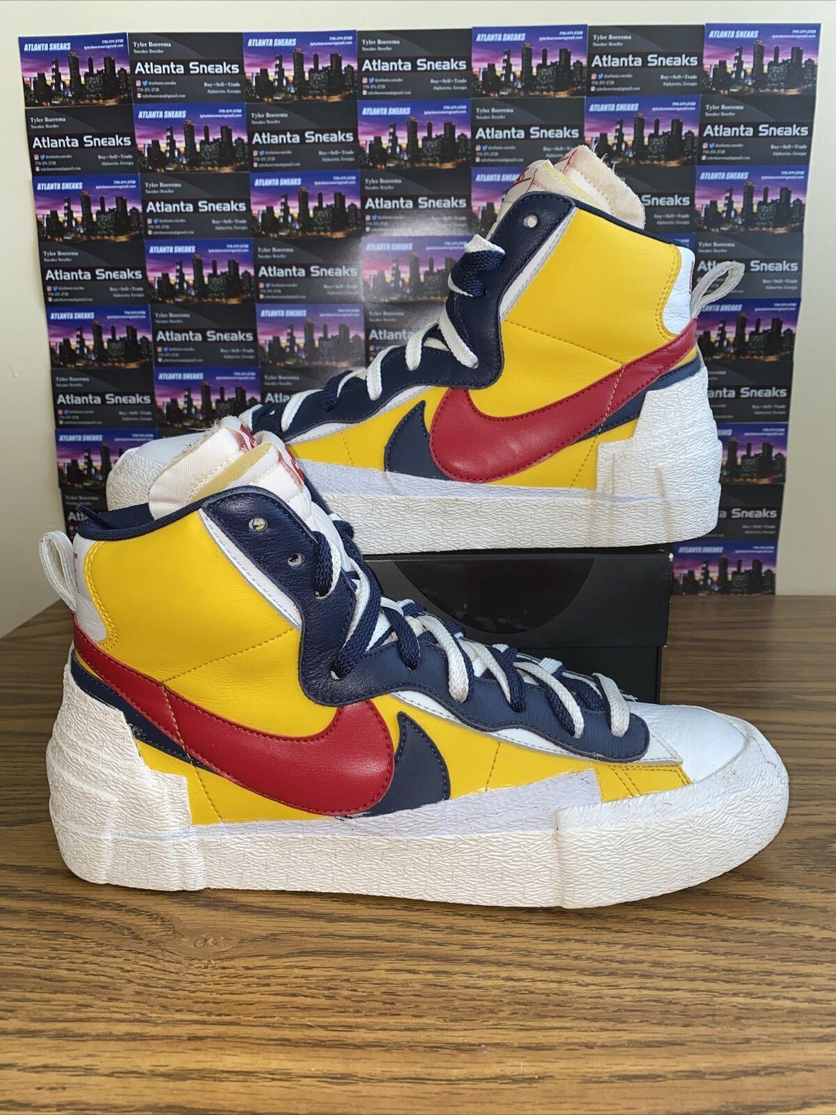 Sacai Nike Blazer Mid Varsity Maize Snow Beach BV… - image 1