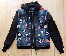 PHILIPP PLEIN JACKE L jacket pp denim patches right now