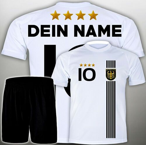 NAMEN #D2017th Deutschland Trikot 98 ALLE Größen Kindergröße Set