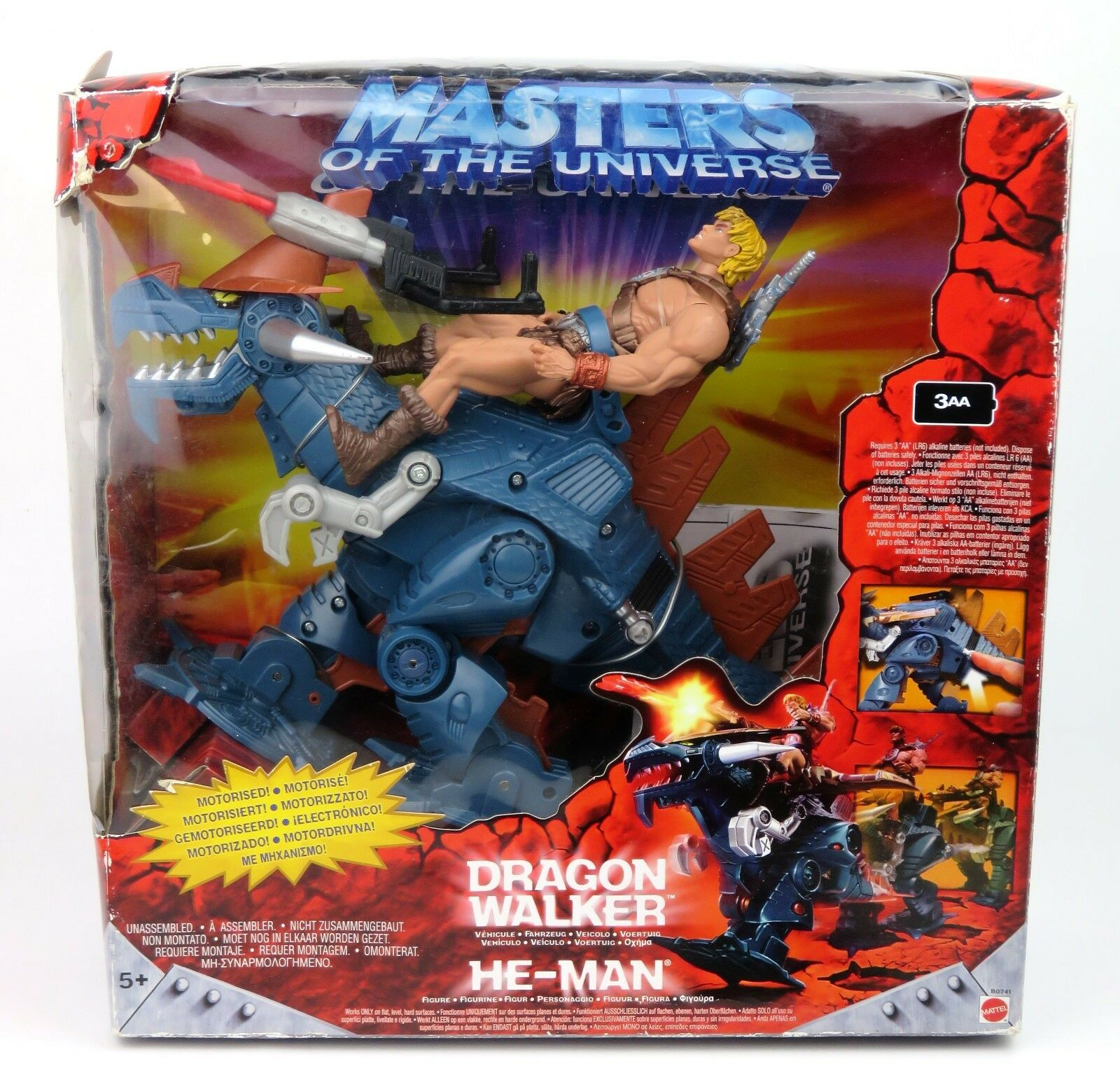Masters of The Universe MOTU - Dragon Walker Vehicle & He-Man Action Figure