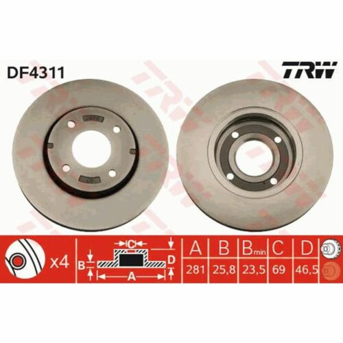 Bremsscheibe 1 Stück TRW DF4311