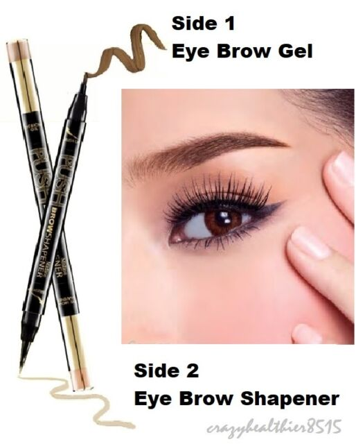 Mistine Push Brow Shapener 2 In 1 Eyebrow Gel Liner Shape Color Dark